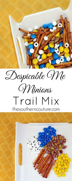 Despicable Me Minions Trail Mix! This is sooo cute! http://fantabulosity.com