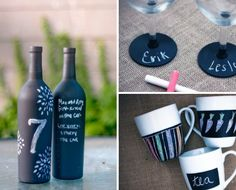 17 Chalkboard Paint DIY Crafting Ideas: So, you're not exactly a cleverly crafty individual? Maybe you're arts and crafts track record is less than stellar. Diy Craft Projects, Fun Crafts, Diy And Crafts, Chalk Crafts, Diy Chalkboard Paint, Chalkboard Drawings, Chalkboard Lettering, Craft Gifts, Diy Gifts