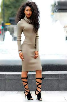 Most Beautiful Black Women Pretty Thick Curvy Black Women Hot Amazing Sexy Black Women 069 Sexy Outfits, Sexy Dresses, Beautiful Black Women, Beautiful People, Look Fashion, Autumn Fashion, Fashion Shoot, Moda Afro, Belle Silhouette
