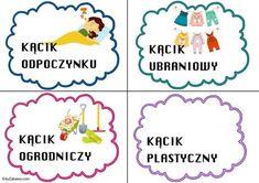 Kąciki tematyczne - mały rozmiar Kąciki tematyczne Powitanie przedszkola Święta i pory roku Wrzesień Kindergarten, Classroom Ideas, Kindergartens, Classroom Setup, Preschool, Preschools, Pre K, Kindergarten Center Management, Day Care