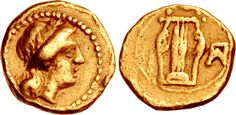 https://flic.kr/p/xPPsvR | A Rare Greek Gold Hemiobol of Panormos (Sicily), From the Time of Pyrrhos of Eperios | SICILY, Panormos. temp. Pyrrhos of Epeiros. Circa 276 BC. AV Twenty-fourth Stater – Hemiobol (6.5mm, 0.34 g, 3h). Laureate head of Apollo right / Kithara; ΠA monogram to right. HGC 2, 1064 (this coin illustrated); SNG ANS 577; BMC 7. VF. Very rare.   From the collection of Dr. Lawrence A. Adams. Ex Lawrence R. Stack Collection (Stack's, 14 January 2008), lot 2096; James A…