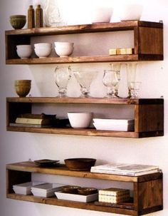 Pallet and wood shelf ideas