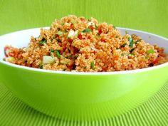 Vitaminreicher türkischer Salat mit Bulgur (Hirse) und Gemüse, schnell gemacht und gut in der Schärfe zu variieren ...