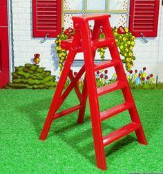 Marx Folding Step Ladder Vintage Dollhouse Furniture Fits Renwal Marx Ideal | eBay