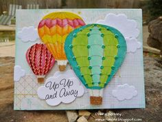 card by Debra Hensley... balloons are completely covered in glitter before coloring... photo does NOT do it justice... so sparkly in real life