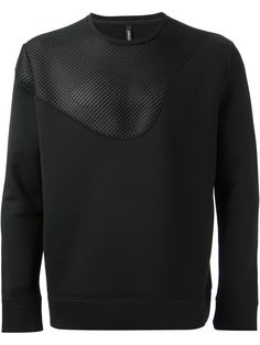 Neil Barrett Mesh Panel Sweatshirt in Black for Men | Lyst