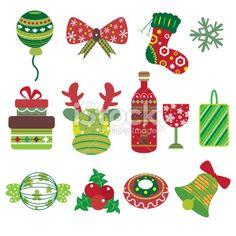 Christmas Element Icons Royalty Free Stock Vector Art Illustration