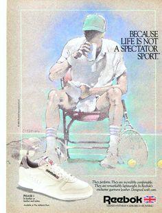 d8165d696e6 Vintage Print Ad May 1986   Reebok Sports Ad Tennis Wall Art Decor x  Advertisement