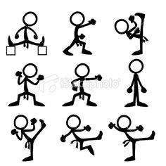 Stickfigure Olympic Taekwondo Royalty Free Stock Vector Art Illustration