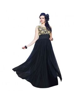 Colour Black Fabric Net Inner Fabric Santoon Occasion Wedding, Party, Bridal, Reception Size Free Size Type Gown
