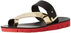Calvin Klein Women's Pax Toe Ring Sandal, Gold/Black/Red, 7.5 M US Calvin Klein http://smile.amazon.com/dp/B00O2KKH5C/ref=cm_sw_r_pi_dp_FbrAvb1B11RSA