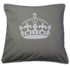 almofada coroa verde e branca listas - Kasa 57