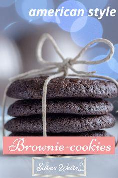 Brownie Cookies ist der perfekte Begriff für diese traumhaften Schokoladen - Cookies. Sie haben einen herrlich soften Kern und zerfließen auf der Zunge. Ich zeige Dir, wie du diesen Schokoladentraum herstellen kannst. Schau Dir das Rezept an. #silkeswelt #cookies #kekse