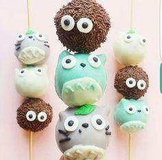 My Neighbor Totoro, Studio Ghibli, cute, chocolate balls; Anime Food