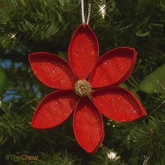 Day 3: Poinsettia #Ornament! #TheChew #Christmas #Craft #DIY