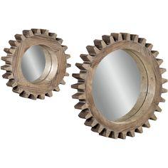 Sprockets Wall Mirrors, Set of 2
