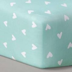 Circo™ Woven Fitted Crib Sheet - Mint Hearts : Target
