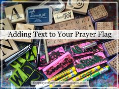 Text and imagery are a large part of any prayer flag. There are many ways to add text to your flag and this week we'll talk about stam...