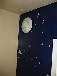 It would be really fun to paint their room dark blue and cover one wall with glow in the dark constellations.