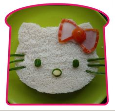 hello kitty sandwiches for the kids