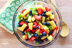A rainbow blend of fruit, combined with a sweet and tart dressing makes this honey lime fruit salad a sure to be hit at any Summer cookout. I love mixing up a big bowl of fruit in the summer time. Fresh fruit is always in abundance, it's cheap and so colorful, plus it's pretty good …