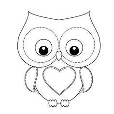 unique coloring pages owl cartoon - photo#12