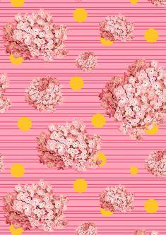 hydrangea spots and stripes by Cardboardcities //. Hydrangea Bush, Hortensia Hydrangea, Colorful Clouds, Motif Floral, Decoupage Paper, Color Stories, Texture, Stripe Print, Pretty Flowers