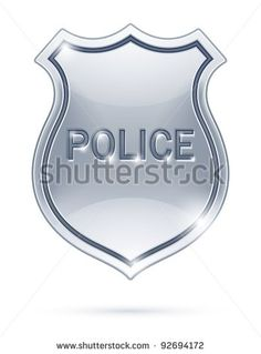 police badge vector illustration isolated on white background eps10 transparent objects used for shadows and