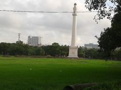 View of the Shaheed Minar at Esplanade in Kolkata, India. The city of Kolkata is often called the city of joy!
