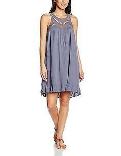 12, Blue - Blau (Folkstone Gray), VILA CLOTHES Women's Vihansina Camp Dress NEW