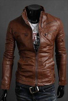 Sensible Men New Fashion Pu Leather Solid Color Suit Men High Quality Slim Fitness Long Sleeve Casual Leather Clothing Outwear F2016 Suitable For Men Women And Children
