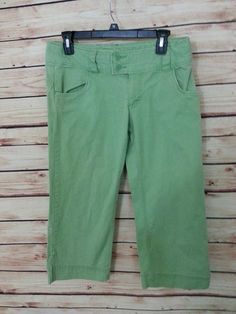 American Eagle Outfitters pants capri cropped stretch womens size 6  green #AmericanEagleOutfitters #CaprisCropped
