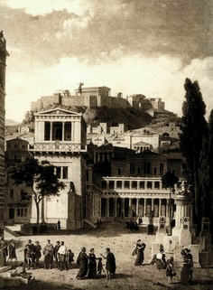 Reconstruction of ancient Athens Archaic Greece, Ancient Greece, Ancient Egypt, Vintage Pictures, Old Pictures, Old Photos, Greek Pantheon, Greece Pictures, Classical Greece