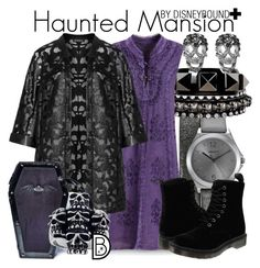 """Haunted Mansion+"" by leslieakay ❤ liked on Polyvore featuring DKNY, DANNIJO, Valentino, Verpass, Dr. Martens, Iron Fist, Mia Sarine, Shay, disney and disneybound"