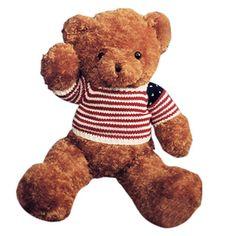 """BigPlush 27"""" Lovely Brown America Patriotic Bear Plush Toy"""