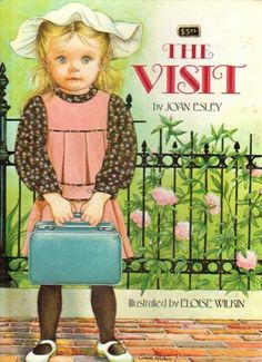 """The Visit""   by Joan Esley. Rand McNally, 1980  The detailed illustrations by Eloise Wilkin in this book are fantastic!  Makes you want to go for a visit to this house yourself!"