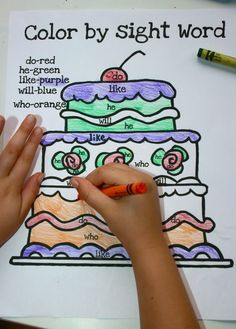 Sight Word Fun Activities including colour by sight word, trace, colour and paste, crafts and more.