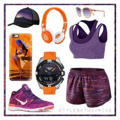 """""""Sunset Fitness"""" by mauricee-brewer on Polyvore featuring NIKE, Beats by Dr. Dre, Casetify, Yves Saint Laurent and Mountain Hardwear"""