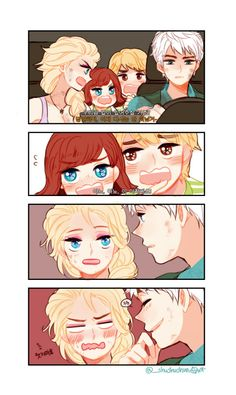 Can we stay with you? I am never leaving you again! NO, NO, HIM! We mean him..  Don't laugh, Frost.  Jelsa as Clawen ( + Kristanna Children ) in Jurassic World AU_(:3