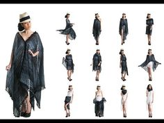 Amaryllis Convertible Kaftan in different ways - How to Wear YAY Convertible Beach Wrap - YouTube