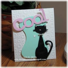 Exploring Cricut Project using PC's Nifty Fifties Cartridge and fun flocking on Miss Kitty