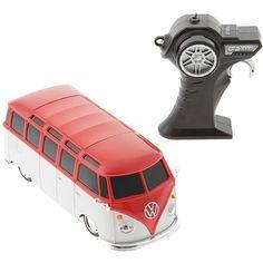 Rádio Control 1:24 Volkswagen Van Samba Vermelha - Maisto