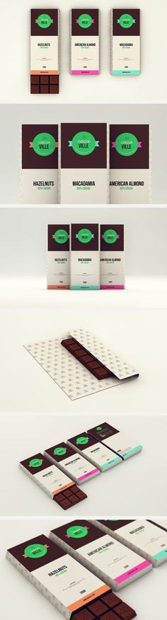 Cocoville Chocolates by Isabela Rodrigues Graphic Design Branding, Identity Design, Logo Design, Food Packaging, Brand Packaging, Cafe Branding, Moodboard Inspiration, Chocolate Packaging, Brand Guidelines