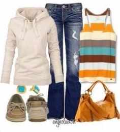 Top & hoodie : roxy  Jeans :miss me  Shoes : sperrys