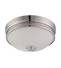 Nuvo Lighting Harper 1 Light Flush Mount in Polished Nickel 62/321 #lightingnewyork #lny #lighting