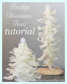 Burlap Christmas tree tutorial - Ask Anna