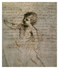 Sketch of a Child Print by Guercino (Giovanni Francesco Barbieri) at Art.com