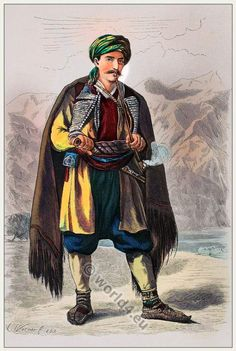 Traditional Montenegrin costume. [Franz Lipperheide, 1876-1887]