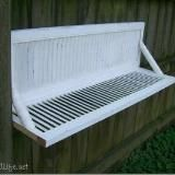 Repurposed shutters into plant shelf or outdoor serving area perhaps??