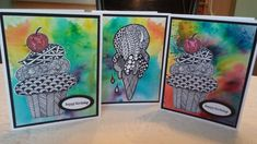 ColorBurst Zentangles by Illinois Marge - Cards and Paper Crafts at Splitcoaststampers